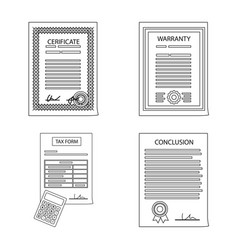isolated object of form and document sign vector image