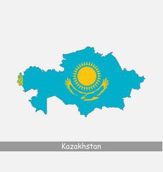 Kazakhstan map flag vector
