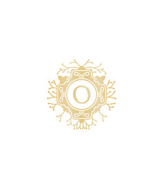 letter o initial logo for wedding boutique luxury vector image