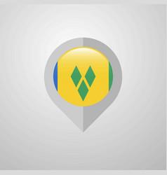 Map navigation pointer with saint vincent vector