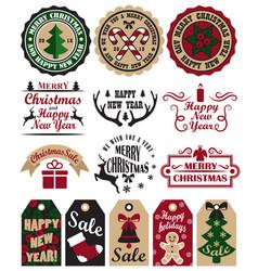 Merry christmas symbols set vector