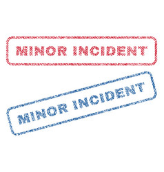 Minor incident textile stamps vector