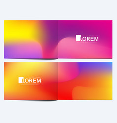 Modern template for horizontal brochure vector
