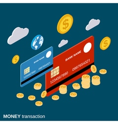 Money transaction financial transfer banking vector