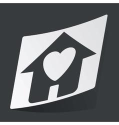 Monochrome beloved house sticker vector