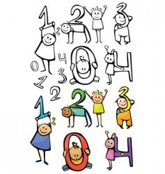 Numbers kids vector
