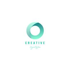 O green pastel gradient alphabet letter logo icon vector