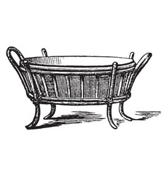 Oval jardiniere used to hold decorative plants vector
