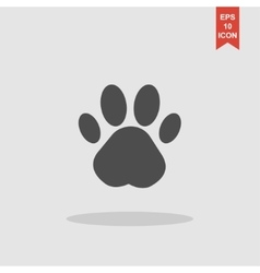 Paw Print Flat design style vector