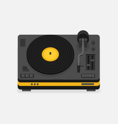 Player for vinyl record music flat vector