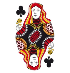 Queen of clubs no card vector image