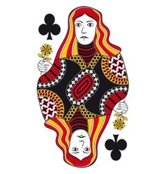 Queen of clubs no card vector