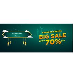Ramadan sale web banner design modern template vector