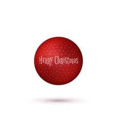 Realistic Christmas red Ball with Shadows vector image