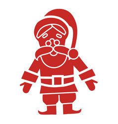 red santa claus icon simple style vector image
