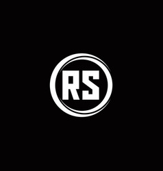 Rs logo initial letter monogram with circle slice vector