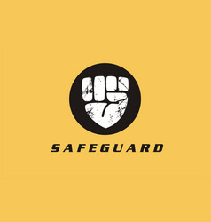 Safeguard security secure protection logo icon vector
