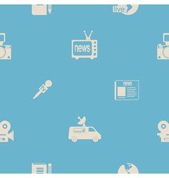 Seamless background with journalism icons vector image