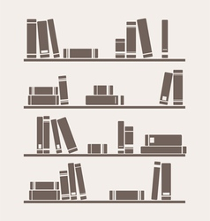 Simply retro books library on the shelf vector