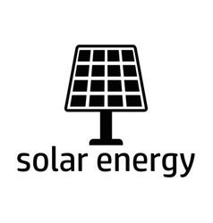 Solar energy black icon vector