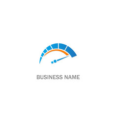 speed meter sign logo vector image