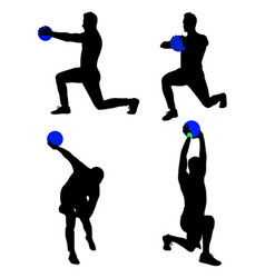 sportsman gesture silhouette 02 vector image