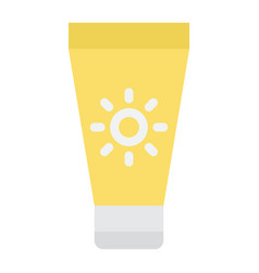 Sunscreen flat icon health and tourism vector