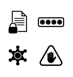 Top electronic security simple related icons vector