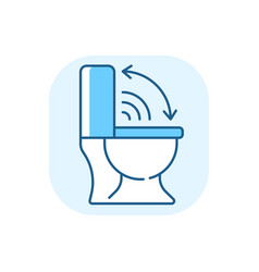 Touchless toilet seat blue rgb color icon vector