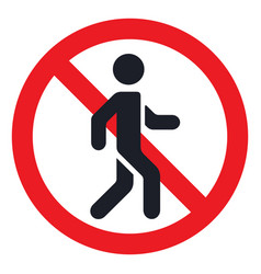 Traffic sign prohibiting traffic pedestrians vector