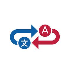 Translation service icon interpreter vector