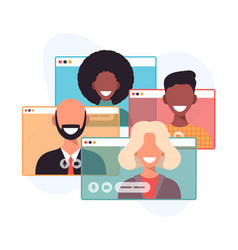 video conference call a business group meeting vector image