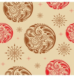 Vintage seamless texture with circles of leaf vector