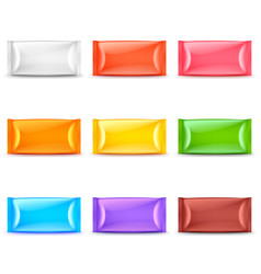 wide food packaging colorful template 3d set vector image