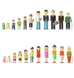 With different age of people vector