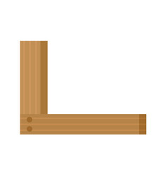 Wood angle icon flat style vector