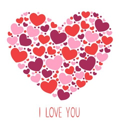 Cute valentine love congratulation card vector