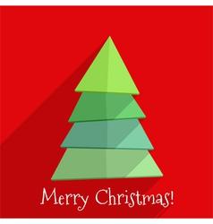 Flat Christmas Tree Design vector image vector image