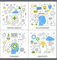 mental activity flat concept vector image vector image