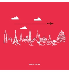 Travel and tourism poster vector image