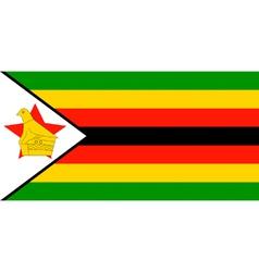 Zimbabwean flag vector image
