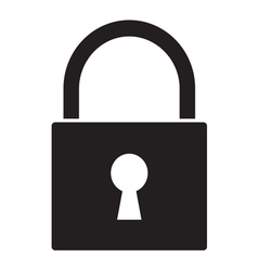 Lock icon1 vector image vector image
