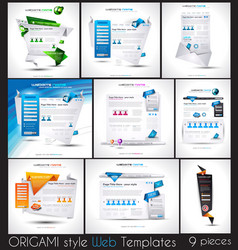 Original Style Website Templates with Origami vector image