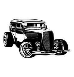 Retro Hotrod vector image vector image