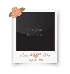 Retro wedding greeting cards Template for photo vector image vector image