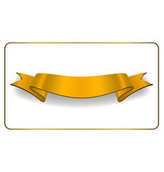 Ribbon gold banner satin blank collection vector