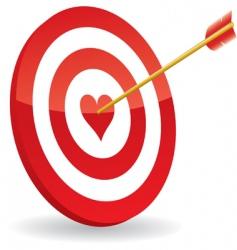 target love vector image vector image