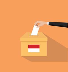indonesia vote election concept with vector image vector image