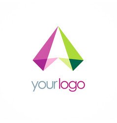 letter a triangle shape logo vector image