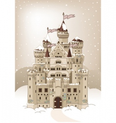 magic winter castle invitation card vector image vector image
